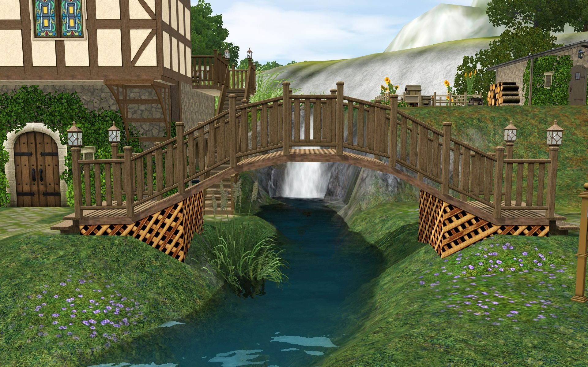 Как сделать мост в симс 3 фото 961