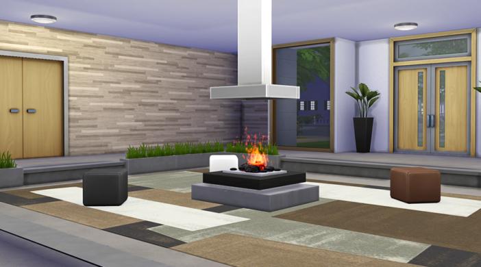Камин в стиле модерн в The Sims 4
