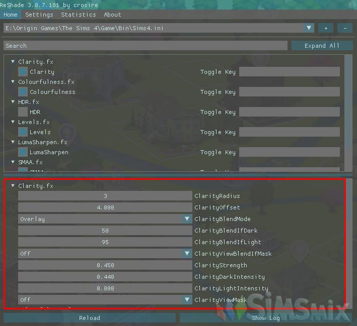 ReShade Улучшение графики в The Sims 4